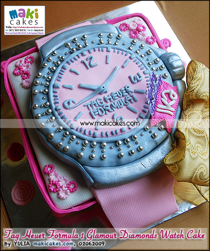 Tag Heuer Formula 1 Glamour Diamonds Watch Cake_  - Maki Cakes