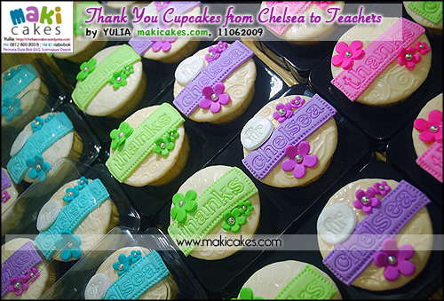 Thank You Cupcakes from Chelsea to Teachers - Maki Cakes