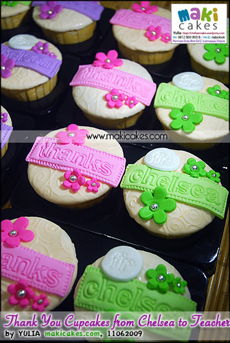 Thank You Cupcakes from Chelsea to Teachers_ - Maki Cakes