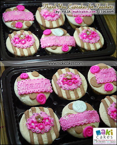 Thank You Cupcakes from Nat & Michelle to Teachers - Maki Cakes
