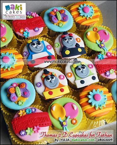 Thomas 2D Cupcakes for Farhan - Maki Cakes