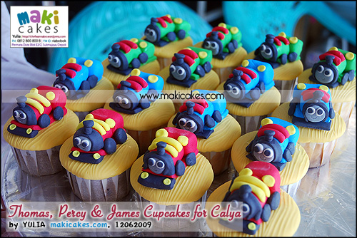 Thomas James Percy Cupcakes for Calya - Maki Cakes