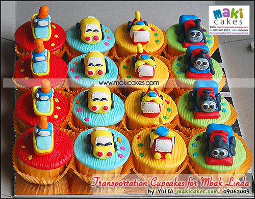 Transportation Cupcakes for Mbak Linda_ - Maki Cakes