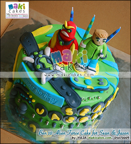 Ben 10 Alien Force Cake for Sean & Jason - Maki Cakes