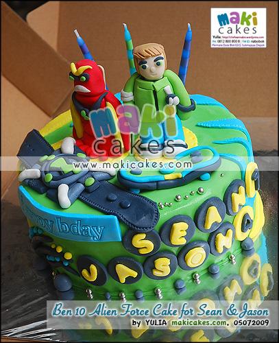 Ben 10 Alien Force Cake for Sean & Jason_ - Maki Cakes