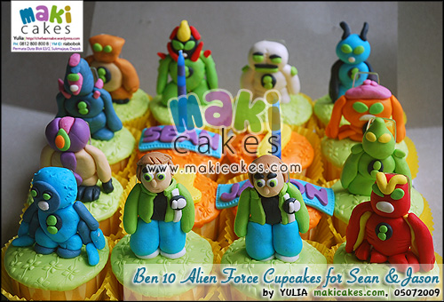 Ben 10 Alien Force Cupcakes for Sean & Jason - Maki Cakes