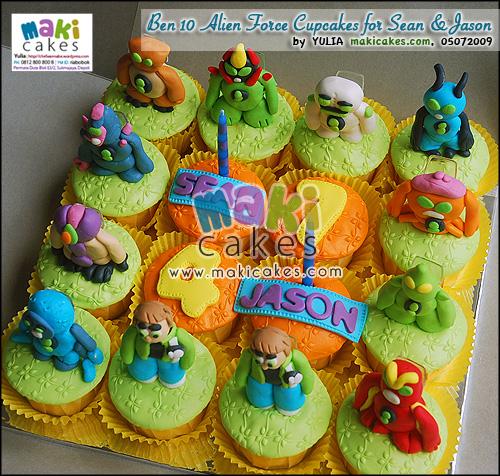 Ben 10 Alien Force Cupcakes for Sean & Jason_ - Maki Cakes