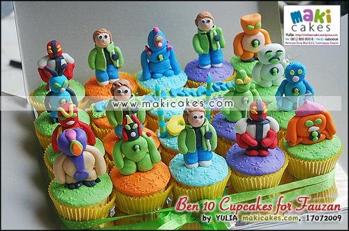 Ben 10 Cupcakes for Fauzan - Maki Cakes