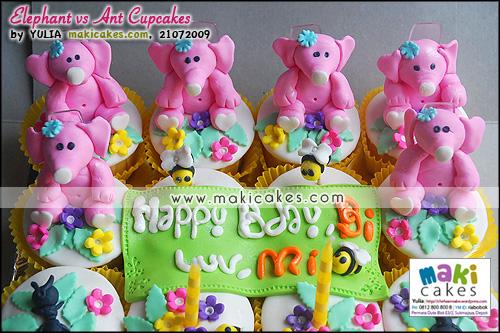 Elephant vs Ant Cupcakes__ - Maki Cakes