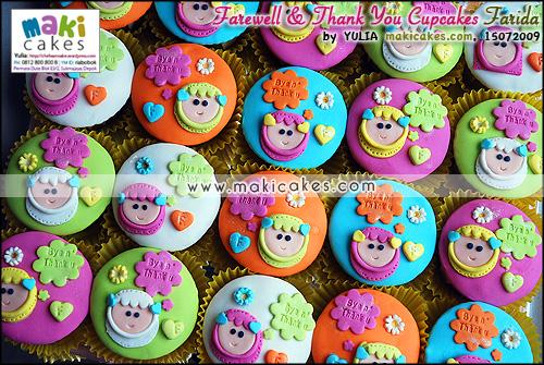 Farewell & Thank You Cupcakes Farida - Maki Cakes