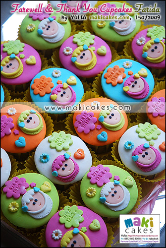 Farewell & Thank You Cupcakes Farida_ - Maki Cakes