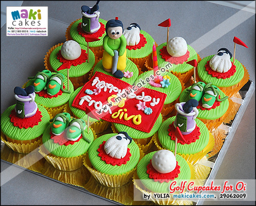 Golf Cupcakes for Oi - Maki Cakes