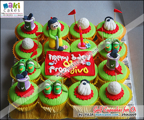 Golf Cupcakes for Oi_ - Maki Cakes