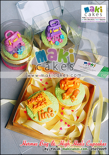 Hermes Bag & High Heels Cupcakes - Maki Cakes