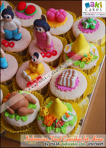 Indonesian Foods Cupcakes for Anna - Maki Cakes