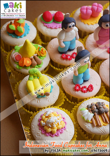 Indonesian Foods Cupcakes for Anna_ - Maki Cakes