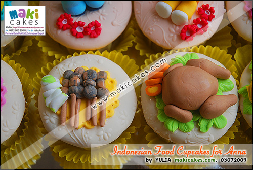 Indonesian Foods Cupcakes for Anna__ - Maki Cakes