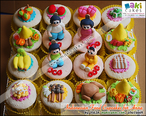 Indonesian Foods Cupcakes for Anna___ - Maki Cakes