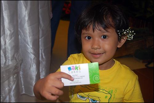 Kintan with business card - Maki Cakes