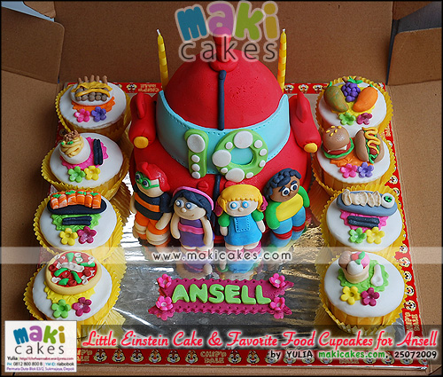 Little Einstein Cake & Favorite Food Cupcakes for Ansell - Maki Cakes