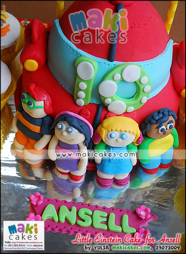 Little Einstein Cake & Favorite Food Cupcakes for Ansell_ - Maki Cakes
