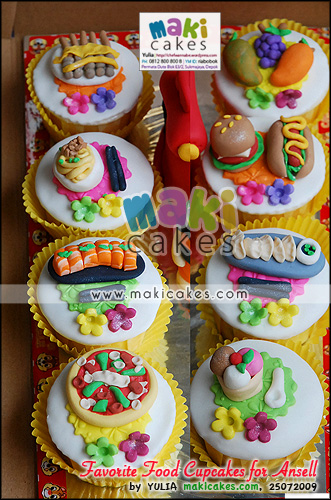 Little Einstein Cake & Favorite Food Cupcakes for Ansell__ - Maki Cakes