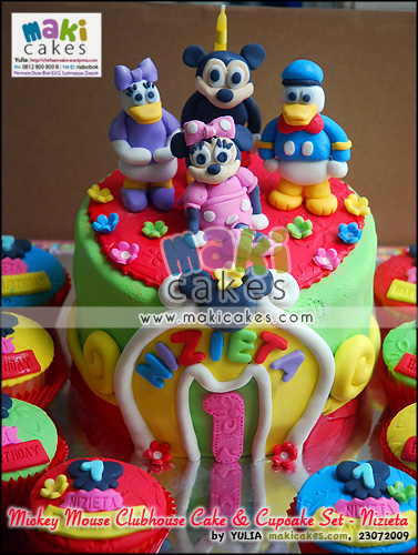 Mickey Mouse Clubhose Cake & Cupcake Set for Nizieta__ - Maki Cakes