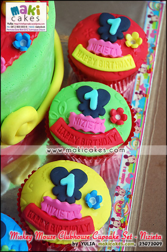 Mickey Mouse Clubhose Cake & Cupcake Set for Nizieta___ - Maki Cakes