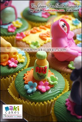 Nu Green Tea Bottle Cupcake - Maki Cakes