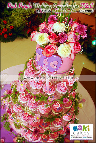 Pink Purple Wedding Cupcakes for Toti & Cornel_ - Maki Cakes