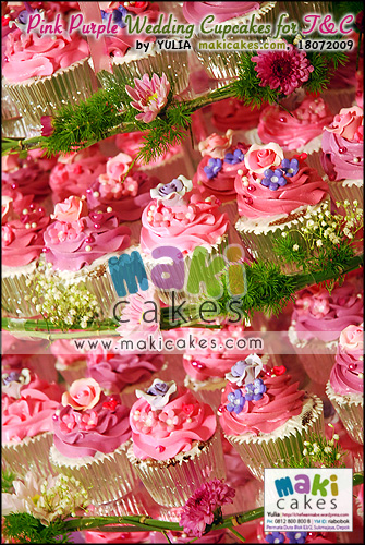 Pink Purple Wedding Cupcakes for Toti & Cornel__ - Maki Cakes