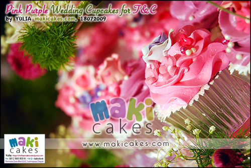 Pink Purple Wedding Cupcakes for Toti & Cornel___ - Maki Cakes
