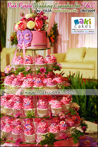 Pink Purple Wedding Cupcakes for Toti & Cornel_____ - Maki Cakes