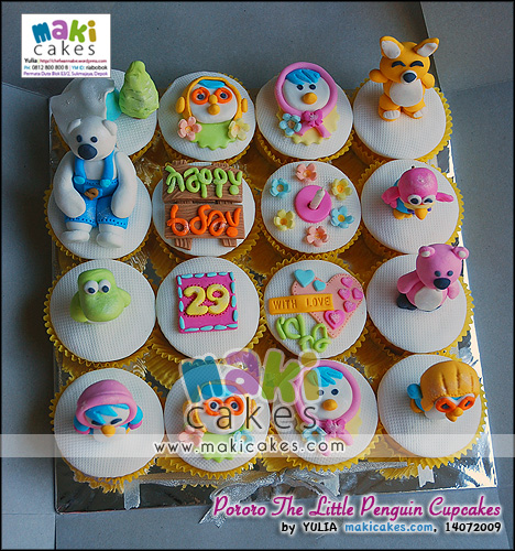 Pororo The Little Penguin Cupcakes - Maki Cakes