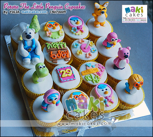 Pororo The Little Penguin Cupcakes__ - Maki Cakes