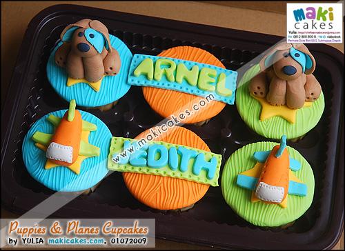 Puppies & Planes Cupcakes - Maki Cakes