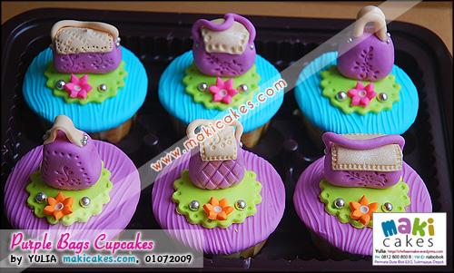 Purple Bags Cupcakes - Maki Cakes