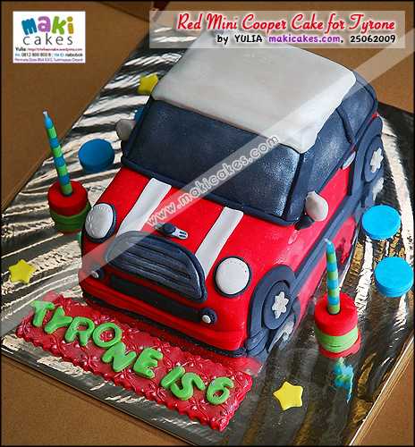 Red Mini Cooper Cake for Tyrone - Maki Cakes