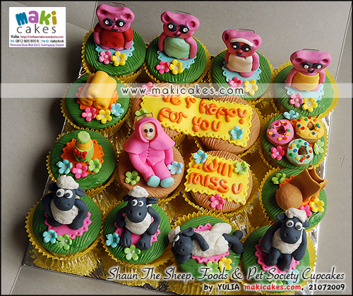 Shaun The Sheep _ Foods & Pet Society Cupcakes - Maki Cakes