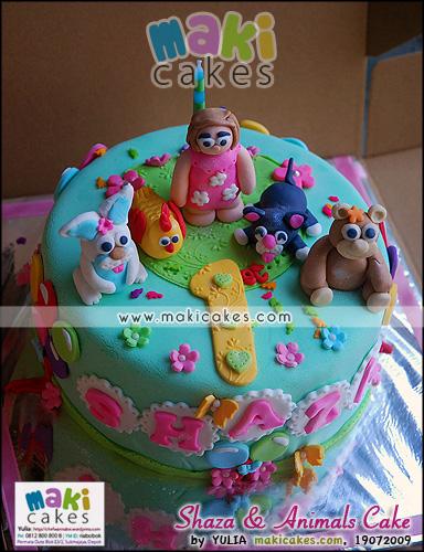Shaza & Animal Cake - Maki Cakes