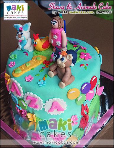 Shaza & Animal Cake_ - Maki Cakes