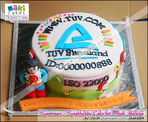 Superman & Superhubby Cake for mbak Hellena - Maki Cakes
