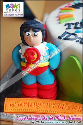 Superman & Superhubby Cake for mbak Hellena_ - Maki Cakes