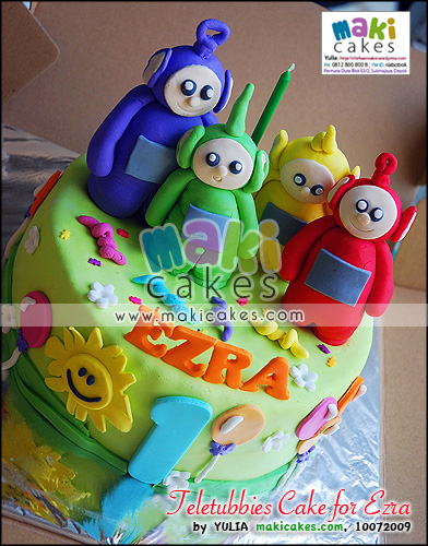 Teletubbies Cake for Ezra - Maki Cakes