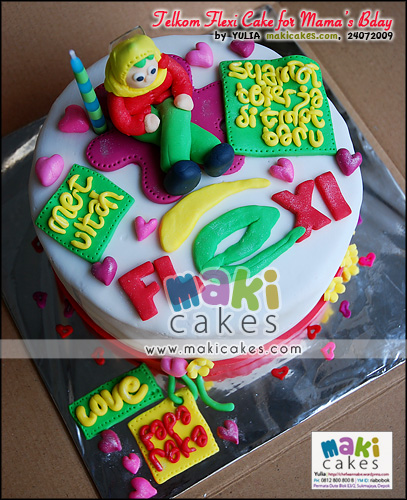 Telkom Flexi Cake for Mama Bday - Maki Cakes
