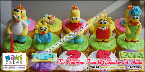 The Simpson Family Cupcakes for Ando_ - Maki Cakes