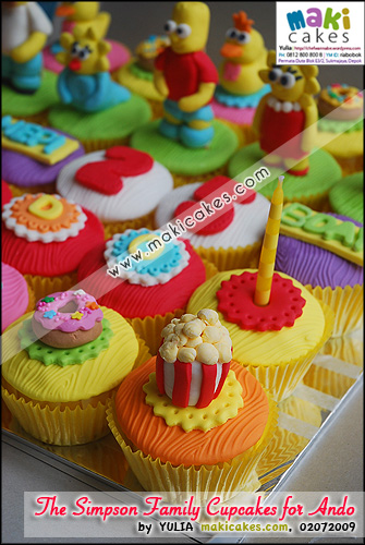 The Simpson Family Cupcakes for Ando__ - Maki Cakes