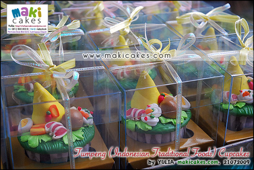 Tumpeng (Indonesian Traditional Food) Cupcakes_ - Maki Cakes