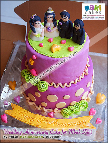 Wedding Anniversary Cake for Mbak Feni - Maki Cakes