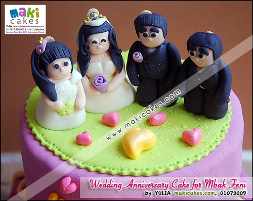 Wedding Anniversary Cake for Mbak Feni_ - Maki Cakes